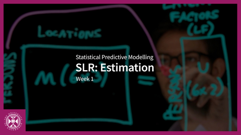 Thumbnail for entry SLR: Estimation