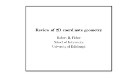 Thumbnail for entry Advanced Vision: Coordinate geometry transformation review