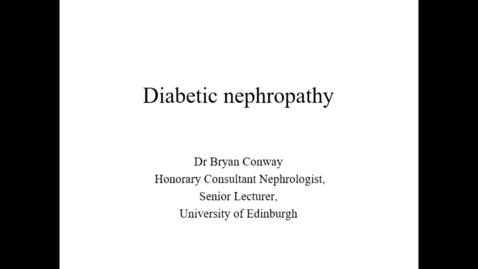 Thumbnail for entry Diabetic kidney disease