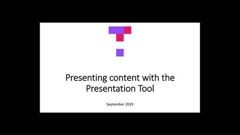 Presenting Content with the Top Hat Presentation Tool