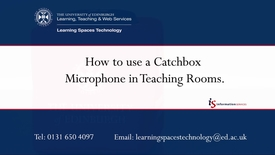 Thumbnail for entry How to use a Catch Box Throwable Microphone in Teaching Rooms