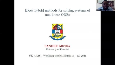 Thumbnail for entry UK-APASI in Mathematical Sciences Sandile Motsa