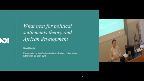 Thumbnail for entry Where next for political settlements theory and African development? - David Booth