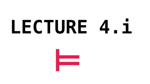 Thumbnail for entry CL - Lecture 4.i - Reduction 1