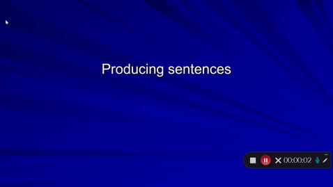 Thumbnail for entry Language Production Lecture 4 Part 13