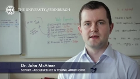 Thumbnail for entry John Mcateer -SCPHRP Adolescence and Young Adulthood-Research In A Nutshell- MRC Institute of Genetic and Molecular Medicine-15/04/2014