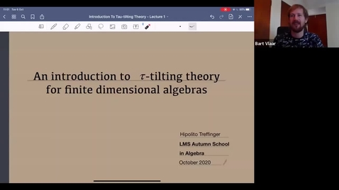 Thumbnail for entry Tau-tilting theory for finite dimensional algebras - Hipolito Treffinger