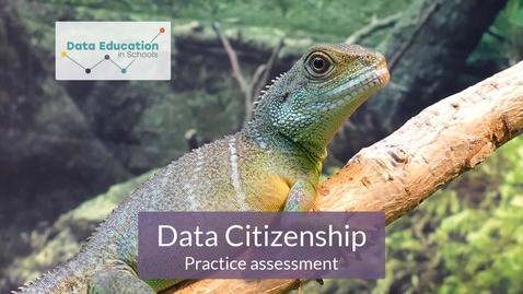 Thumbnail for entry Data Citizenship Level 4-5 Zoo activity Part 4b