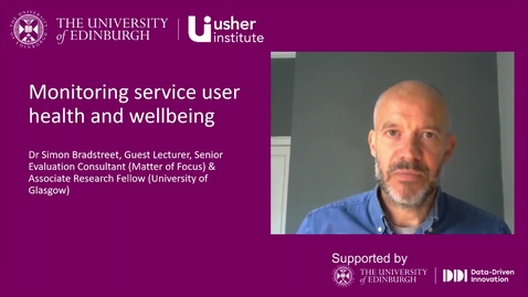 Thumbnail for entry Video 6:  Monitoring service user health and wellbeing