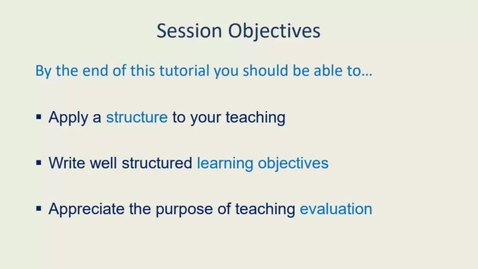 Thumbnail for entry Planning and Evaluating Your Teaching 25.8.21