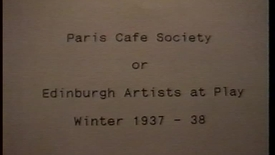 Thumbnail for entry Paris Cafe Society - Edinburgh College of Art staff amateur dramatics 1937/38