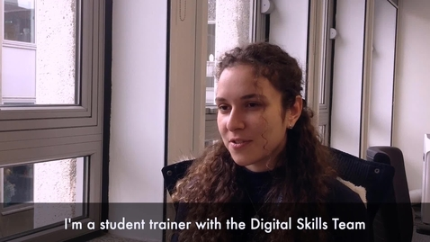 Thumbnail for entry Tina Maria Abu-Hanna, Digital Skills Student Trainer