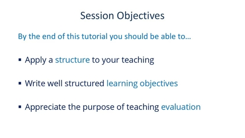 Thumbnail for entry Planning and Evaluating Your Teaching 13 November 2020