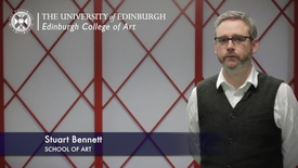 Thumbnail for entry Stuart Bennet -School of Art - Research In A Nutshell-Edinburgh College of Art-04/02/2013