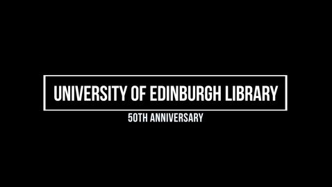 Thumbnail for entry Andrew Merrylees in Conversation about the Construction of the University of Edinburgh Main Library with Rachel Hosker