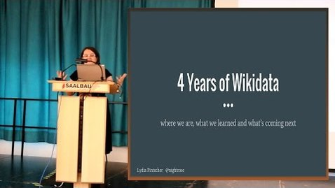 Thumbnail for entry Four Years of Wikidata - Lydia Pintscher, Wikimedia Germany