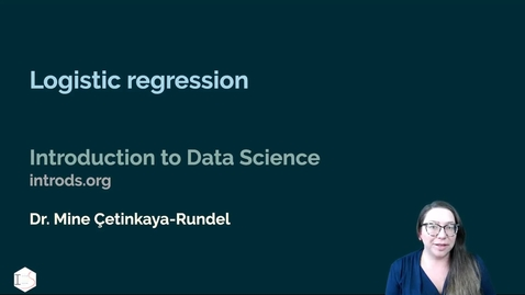 Thumbnail for entry IDS - Week 09 - 02 - Logistic regression