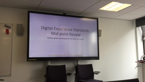 Thumbnail for entry Digital Experience Standards User Group Briefing 2