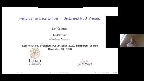 Thumbnail for entry Leif Gellersen- Perturbative uncertainties in unitarized NLO merging
