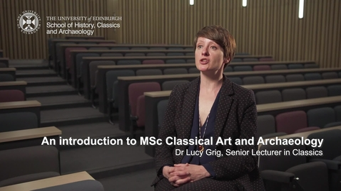 Thumbnail for entry An introduction to MSc Classical Art and Archaeology