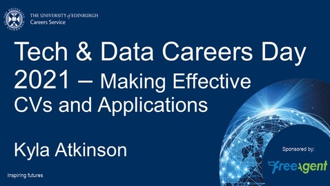 Thumbnail for entry Tech & Data Careers Day - Making Effective CVs and Applications