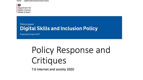 Thumbnail for entry Digital Divide Policy Responses and Critique