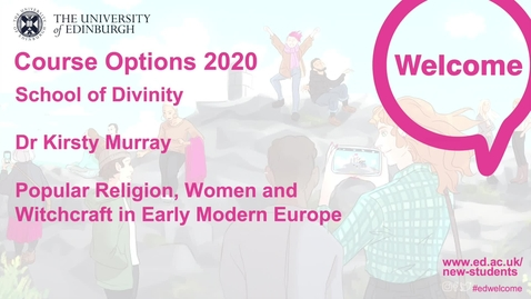 Thumbnail for entry Divinity - Popular Religion, Women and Witchcraft in Early Modern Europe
