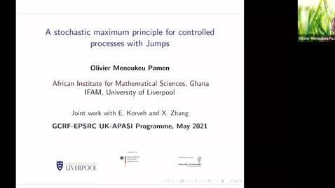 Thumbnail for entry UK-APASI in Mathematical Sciences: Olivier M. Pamen