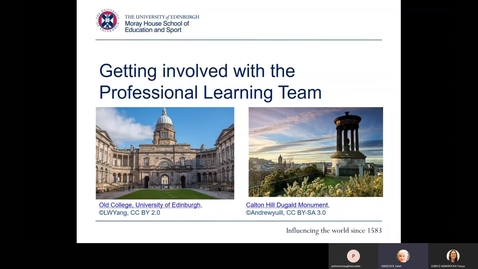 Thumbnail for entry Getting Involved with the Professional Learning Team at Moray House School of Education and Sport