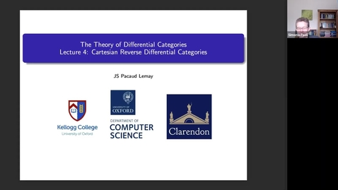 Thumbnail for entry Jean-Simon Lemay (University of Oxford): The Theory of Differential Categories