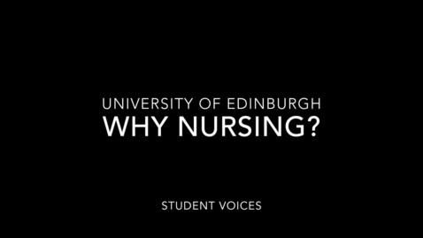 Thumbnail for entry Nursing Studies Student Voices