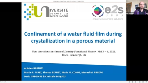 Thumbnail for entry Confinement of a water fluid film during crystallization in nanopores: a DFT study -  Antoine Barthes