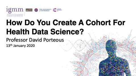 Thumbnail for entry Cross-Disciplinary Fellowship (XDF) Tutorial:  How Do You Create A Cohort For Health Data Science