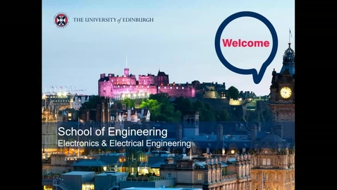 Thumbnail for entry Electrical & Electronic Engineering New Students Welcome Talk