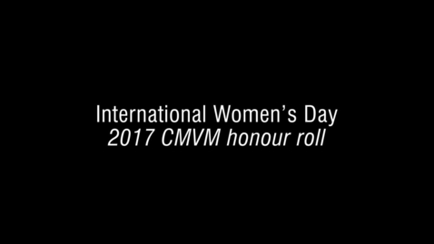 Thumbnail for entry CMVM honour roll 2017_FINAL