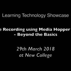 Thumbnail for channel Media Hopper Replay - Lecture Recording Service