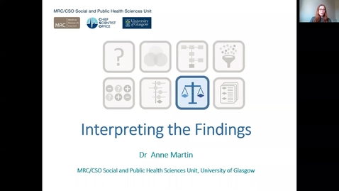 Thumbnail for entry Interpreting the Findings - Anne Martin