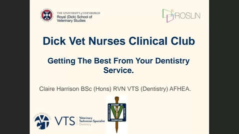 Thumbnail for entry 29th September - Nurses Clinical Club - Dentistry