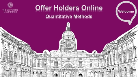 Thumbnail for entry Quantitative Methods : Q-Step Offer Holders 2020