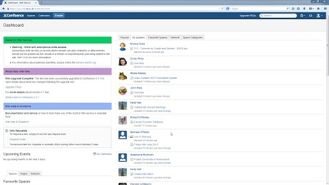 Thumbnail for entry Confluence Wiki V5 Tutorial: Logging in and getting to know the interface
