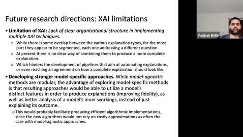 Thumbnail for entry XAI Lecture Recording - Future Directions (Part 2)