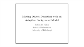 Thumbnail for entry Advanced Vision: Adaptive change detection