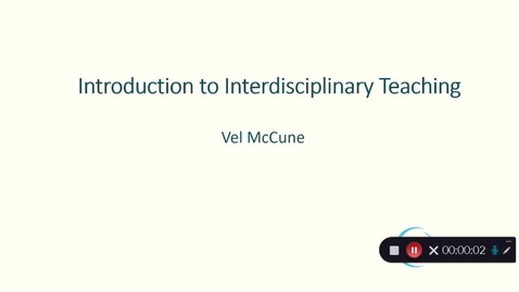 Thumbnail for entry Introduction to Interdisciplinary Teaching October 2020