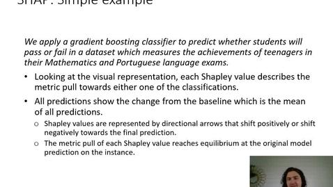 Thumbnail for entry XAI Lecture Recording - SHAP (Part 3)