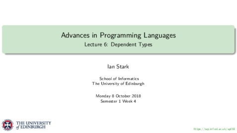Thumbnail for entry Dependent Types