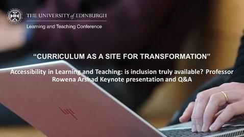Thumbnail for entry LTC 2021 - Day 1 Keynote presentation Rowena Arshad