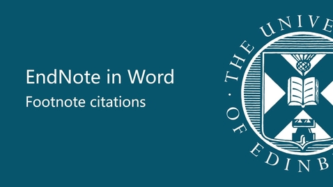 Thumbnail for entry EndNote in Word - footnote citations
