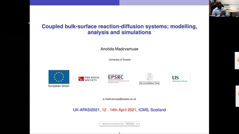 Thumbnail for entry UK-APASI in Mathematical Sciences: Anotida Madzvamuse