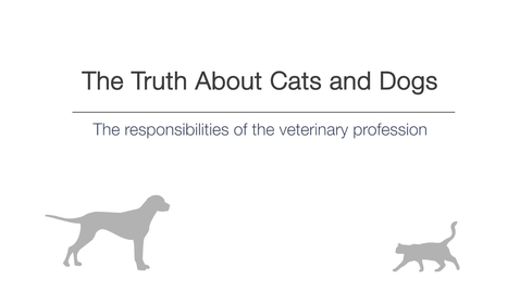Thumbnail for entry Week 1 - The responsibilities of the veterinary profession