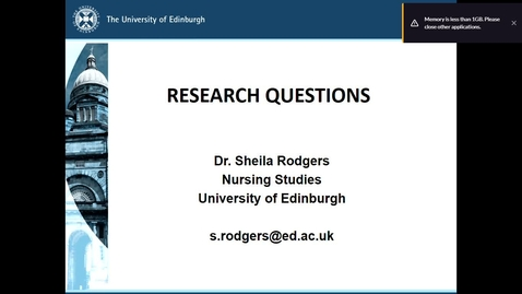 Thumbnail for entry Asking Research Questions